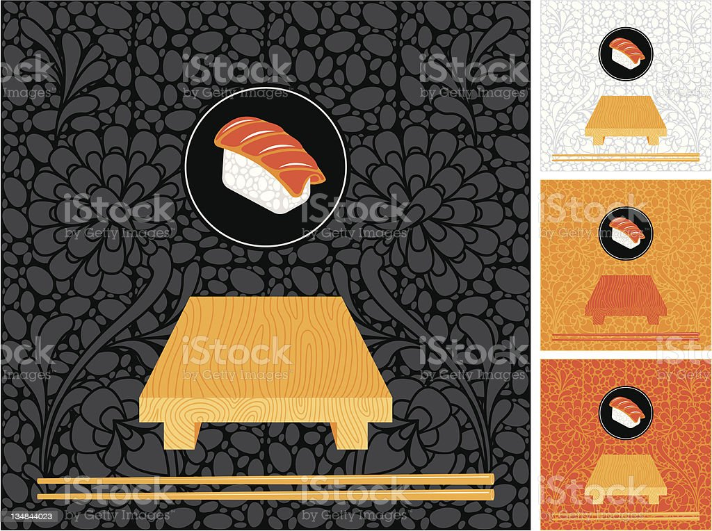 set to backdrops of Japanese cuisine royalty-free set to backdrops of japanese cuisine stock vector art & more images of animal markings