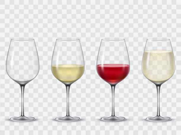 set transparent vector wine glasses - ワイングラス点のイラスト素材/クリップアート素材/マンガ素材/アイコン素材