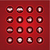 Set valentine's day icons, vector symbols.