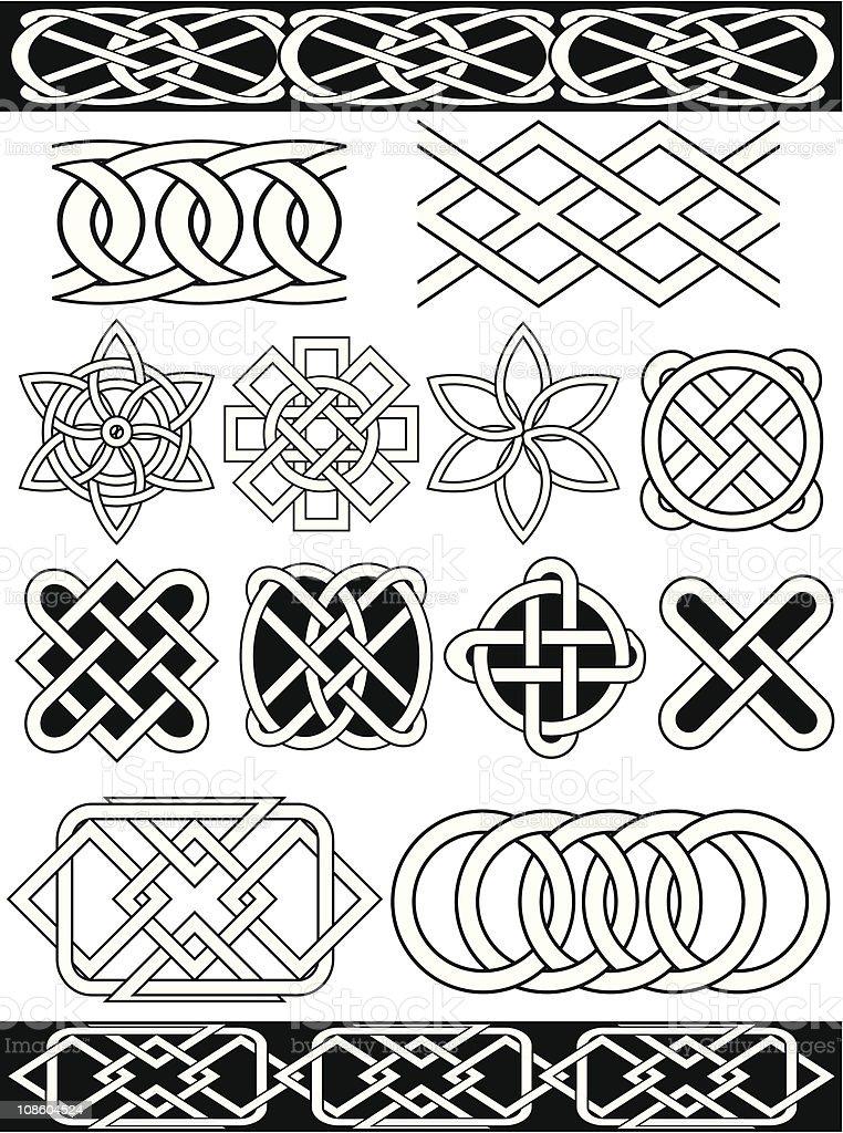 Set - vector celtic patterns royalty-free stock vector art