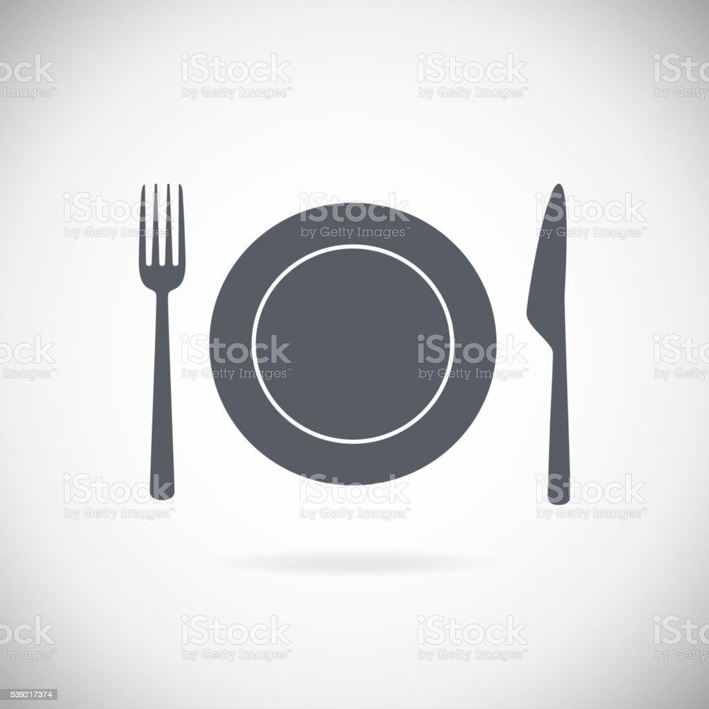 Set vector cutlery icons vector art illustration