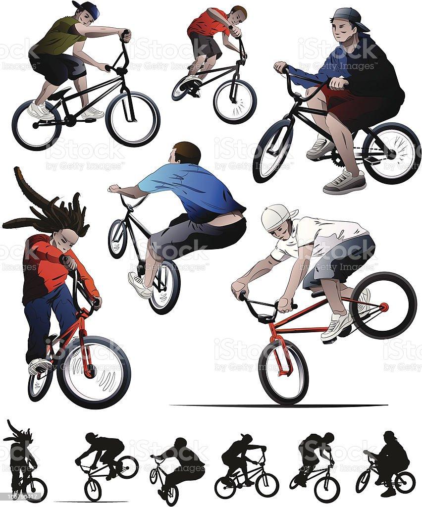 BMX Set vector art illustration