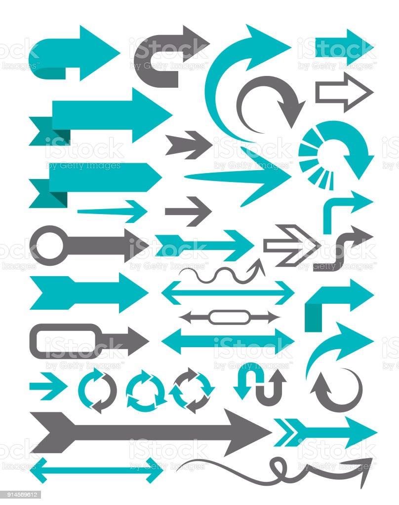 Pfeil-Set – Vektorgrafik