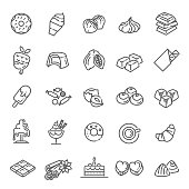 chocolate icons collection. Vector candy