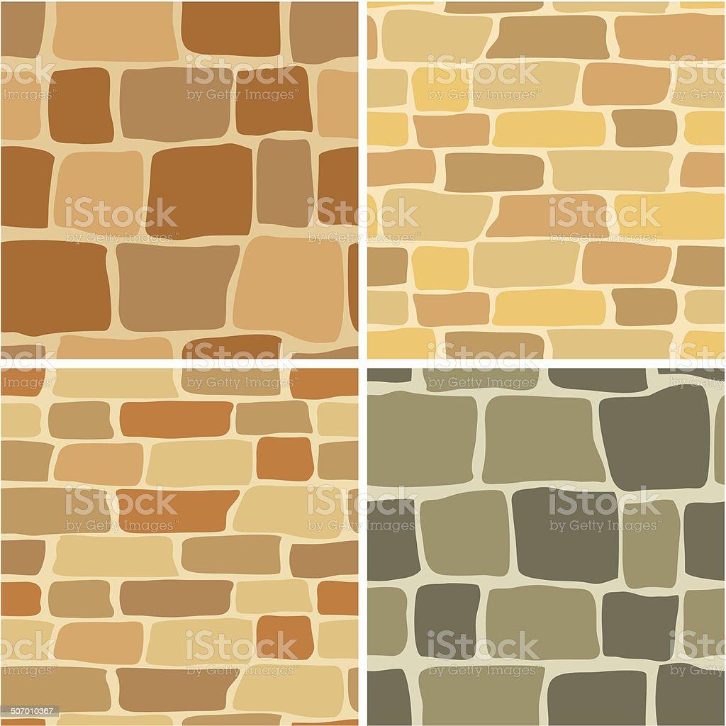 Set Vector Stone Wall Seamless Patterns Stock Vector Art & More ...