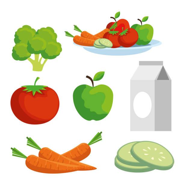 gemüse und obst auf gesundheit - karotte peace stock-grafiken, -clipart, -cartoons und -symbole