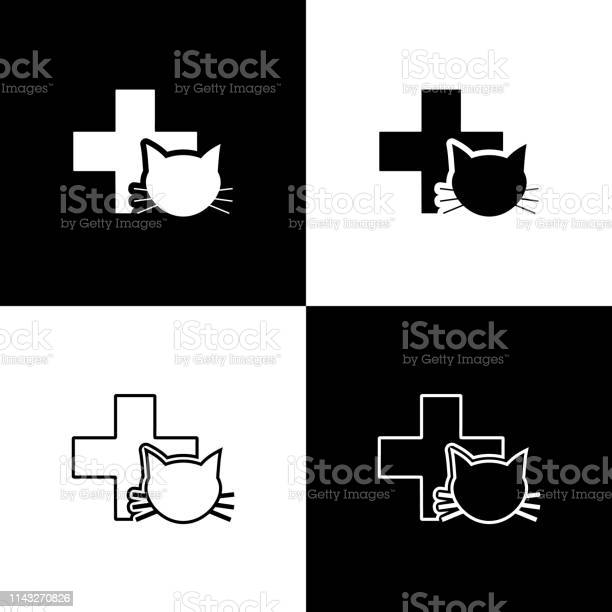 Set veterinary clinic symbol icons isolated on black and white cross vector id1143270826?b=1&k=6&m=1143270826&s=612x612&h=1ukg7adw1iinzmdzoilhmyy13z1opt5gbfy5x0cq6hs=
