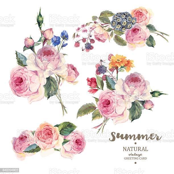 Set vintage floral vector bouquet of english roses vector id540204922?b=1&k=6&m=540204922&s=612x612&h=v8yrbptzycirako dusdq2 ii7zxxs e8ndomuutll8=