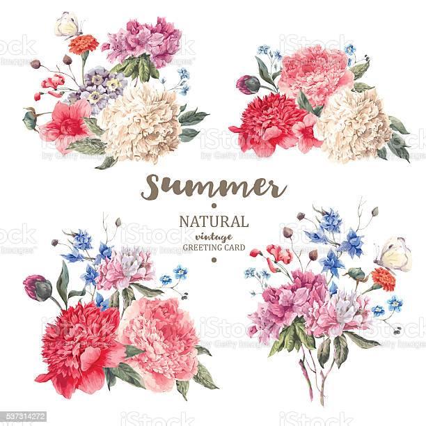 Set vintage floral vector bouquet of peonies vector id537314272?b=1&k=6&m=537314272&s=612x612&h=s6rddbdr0q6qyvlxdsjjzhl0f9ofeyamticf750ka4i=