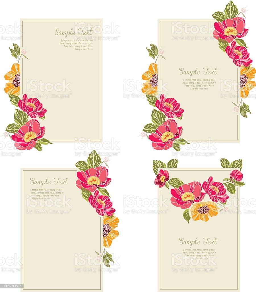 set wedding invitation card 4 royalty-free stock vector art