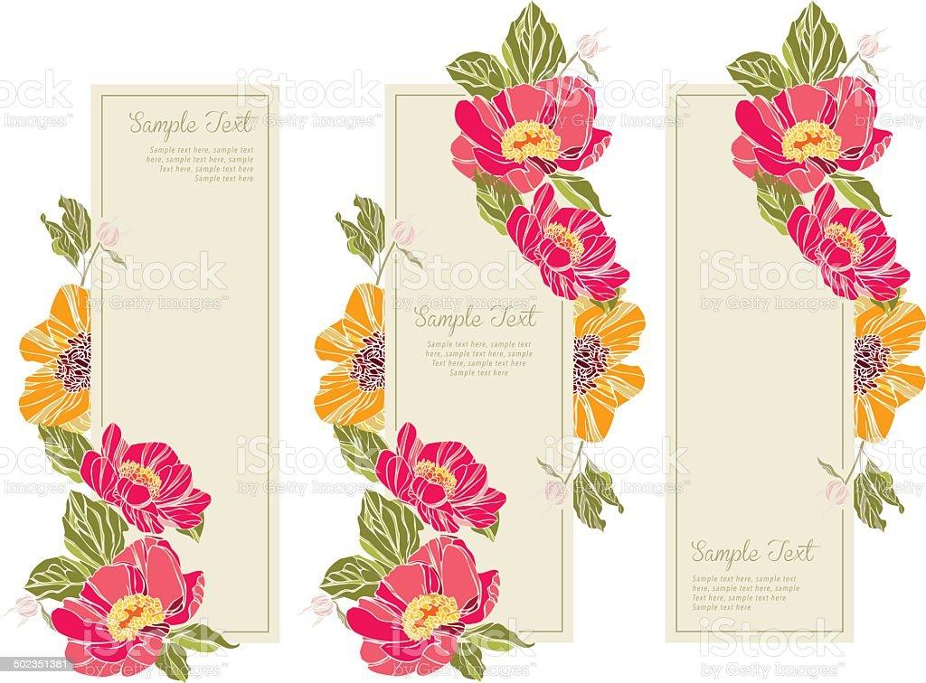 set wedding invitation card vert royalty-free stock vector art