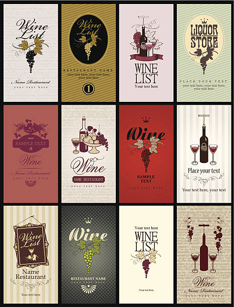 set wine - art nouveau stock illustrations, clip art, cartoons, & icons