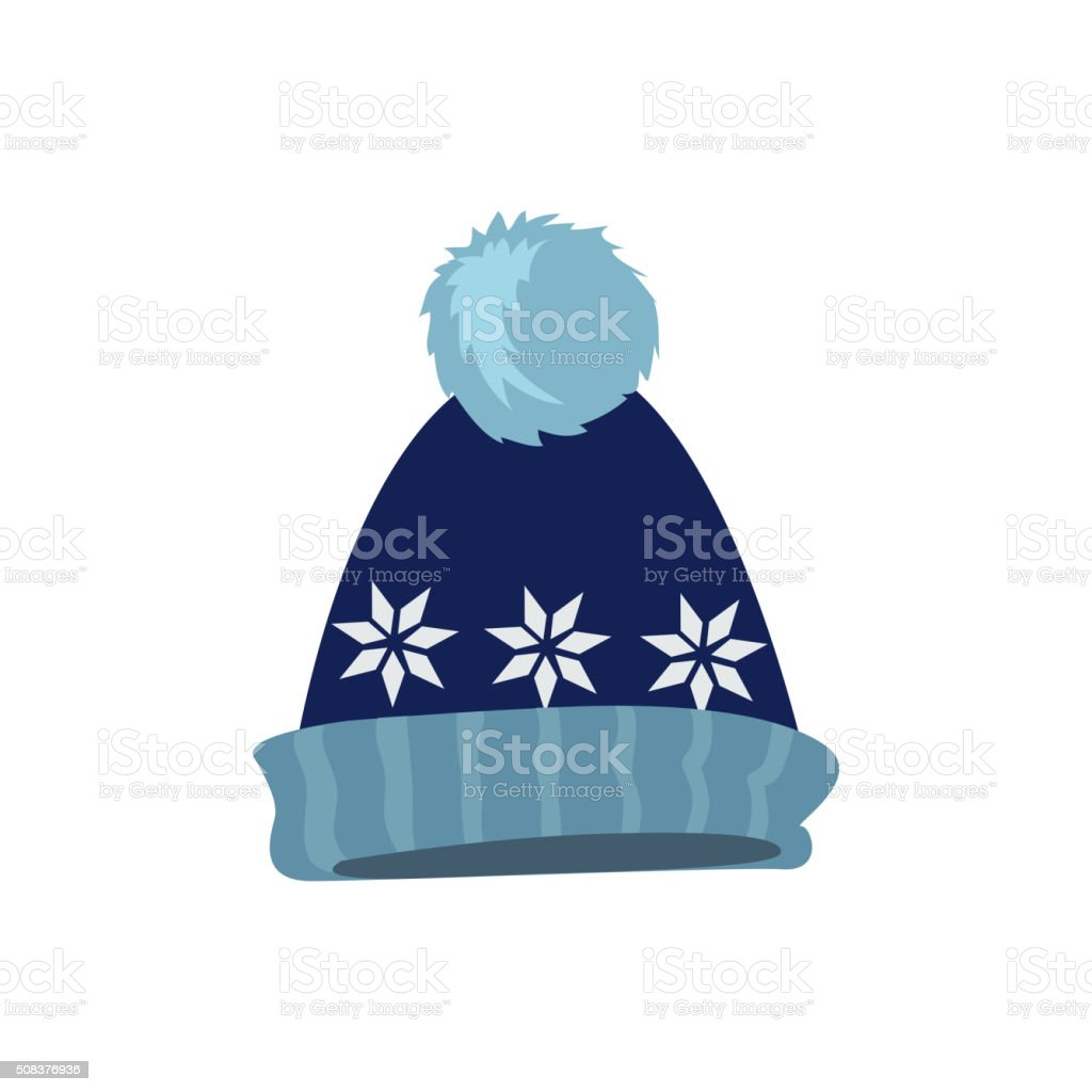 Set Winter Hat vector art illustration