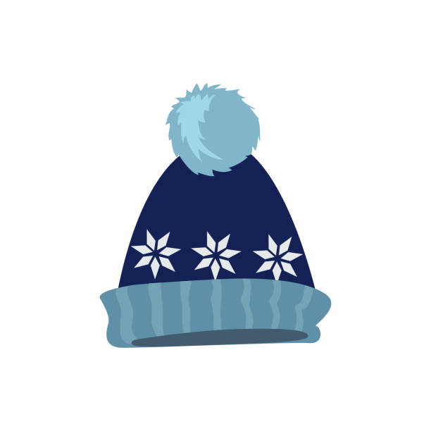 Set Winter Hat vector art illustration ef5214f25441