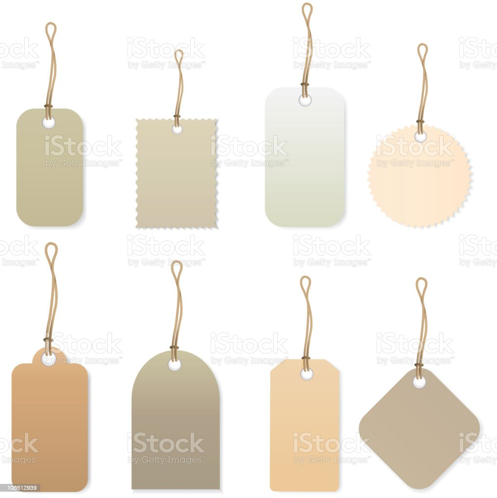 set with diferent price tags royalty-free stock vector art