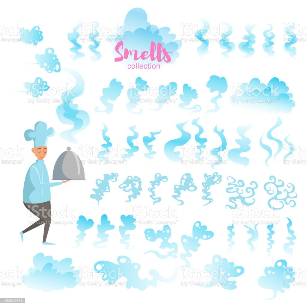 Set with good smells vector art illustration