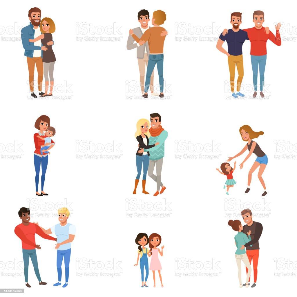 人々 は抱き合うように設定します友達恋人兄弟母親と子供たちは愛の