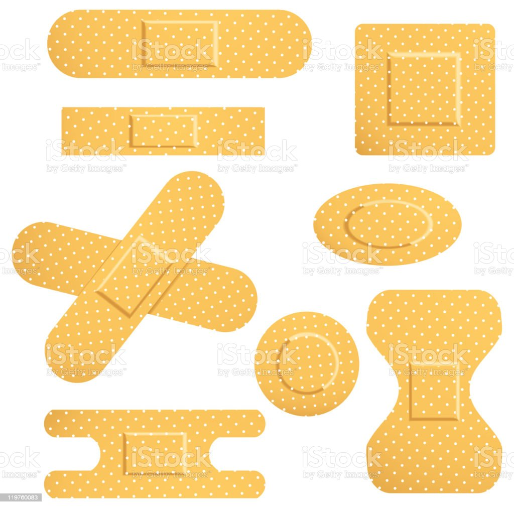 Set with plasters royalty-free set with plasters stock vector art & more images of adhesive bandage