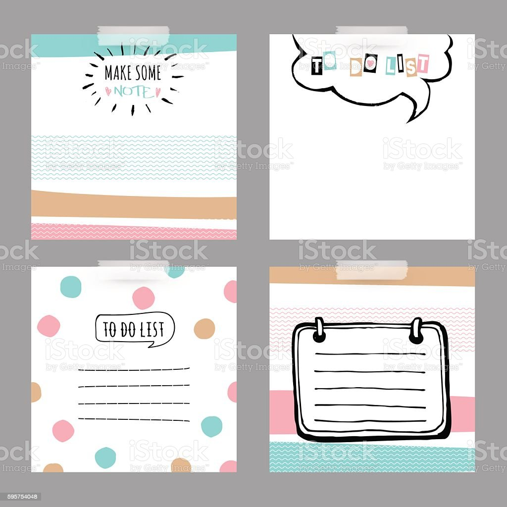 Préférence Set With Stickers To Do List Cute And Decorative Cards stock  RK99