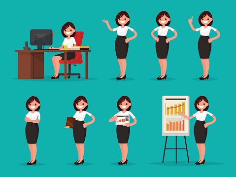 Businesswoman stock illustrations