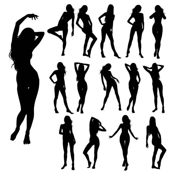 set _ bikini _ girls - sinnlichkeit stock-grafiken, -clipart, -cartoons und -symbole