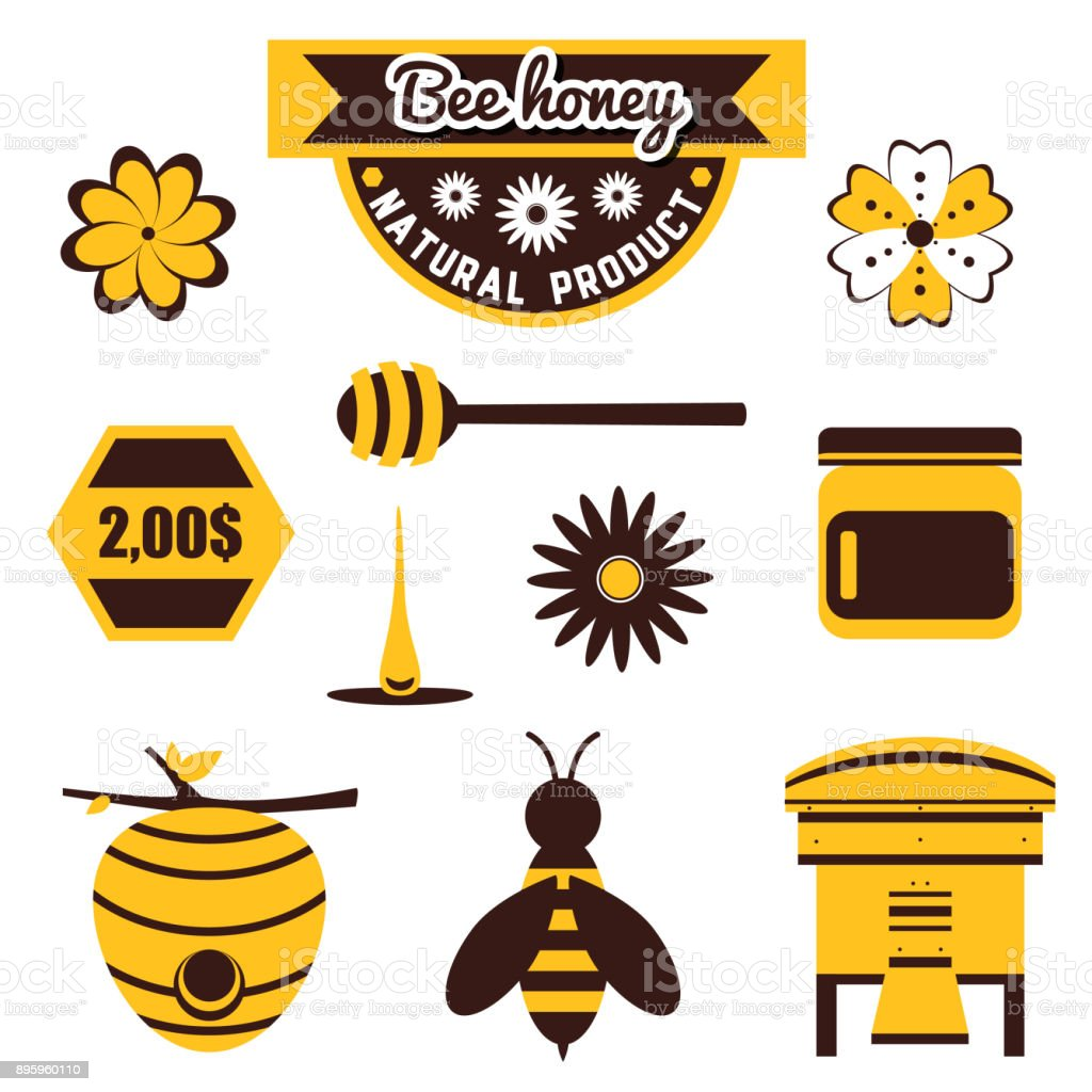 Set_For_Apiary vector art illustration