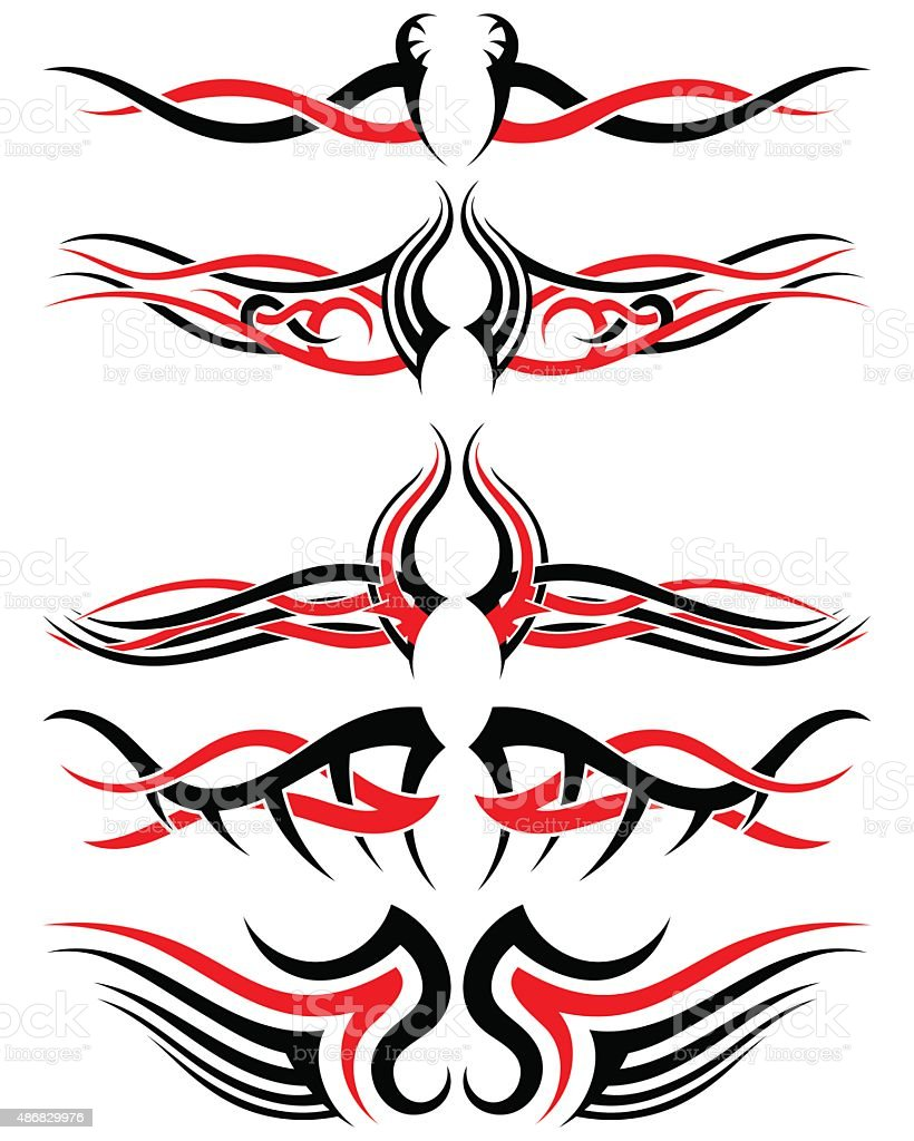 7436474a2c50f Setof Tribal Tattoos Stock Vector Art & More Images of 2015 - iStock