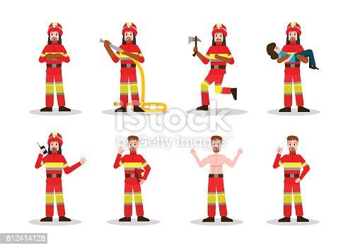 istock Sets of Firefighting. 812414128