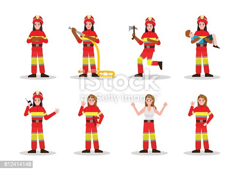 istock Sets of Firefighting. 812414148
