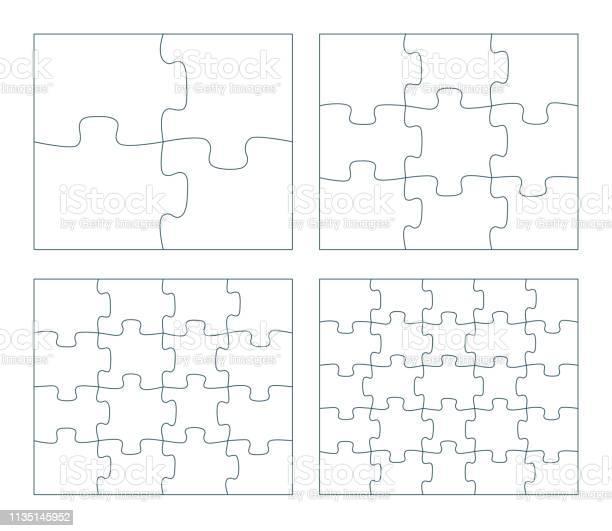 Sets of puzzle pieces vector illustration 2 x 2 3 x 3 4 x 4 5 x 5 vector id1135145952?b=1&k=6&m=1135145952&s=612x612&h=e7bnc7avzjus4cdbf54ejesqajesqen e0ozxtlgk8a=