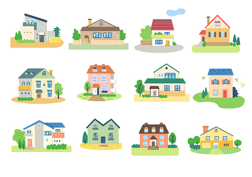 12 sets of various design houses
