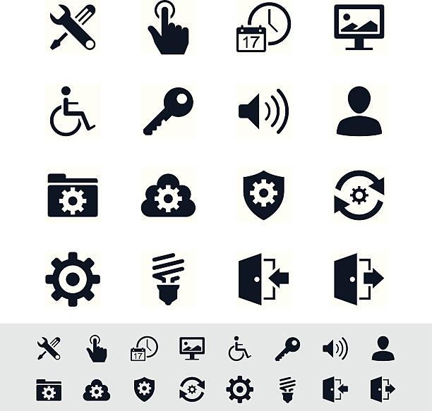 Die icon-set-Einfachheit