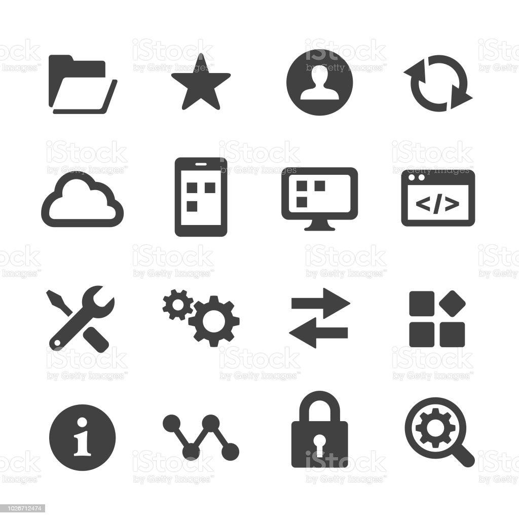 Setting Icons Set - Acme Series vector art illustration