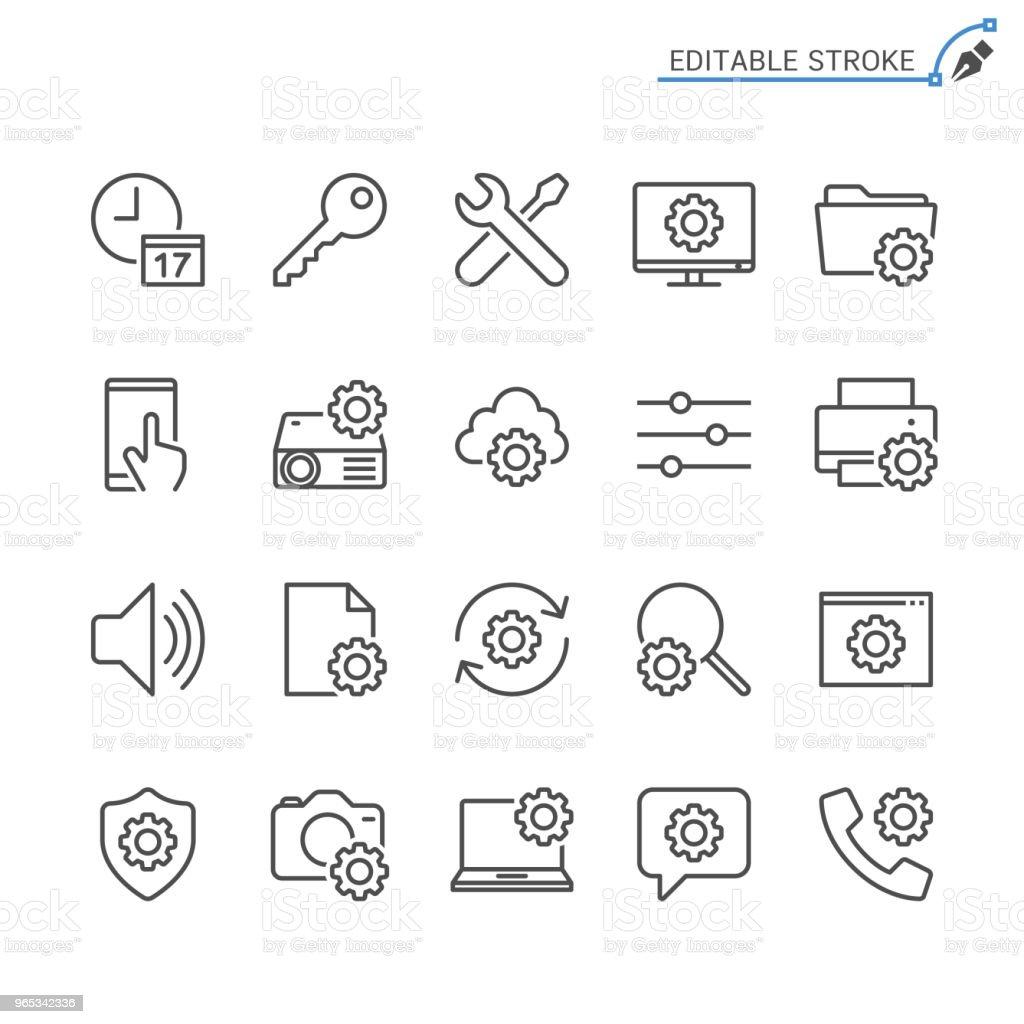 Setting line icons. Editable stroke. Pixel perfect. setting line icons editable stroke pixel perfect - stockowe grafiki wektorowe i więcej obrazów akta royalty-free