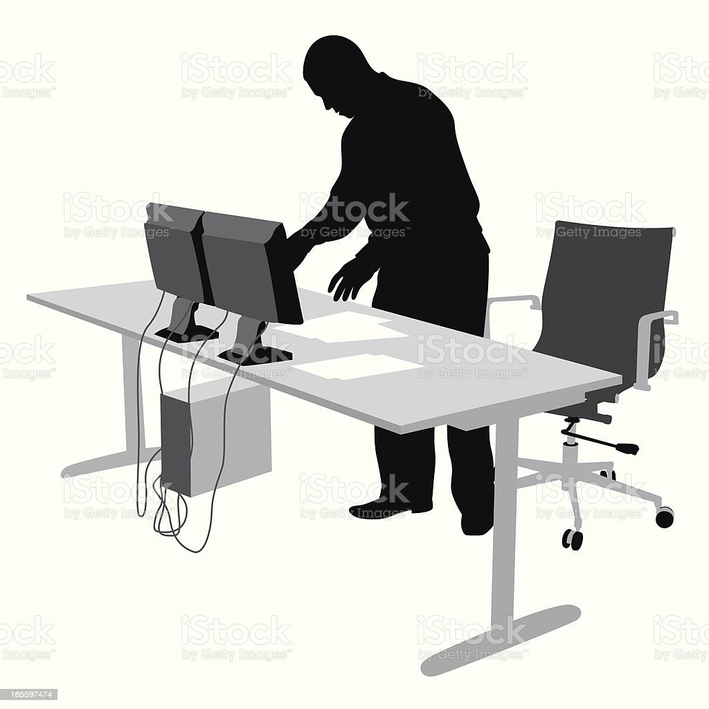 Setting Up Vector Silhouette royalty-free setting up vector silhouette stock vector art & more images of adult