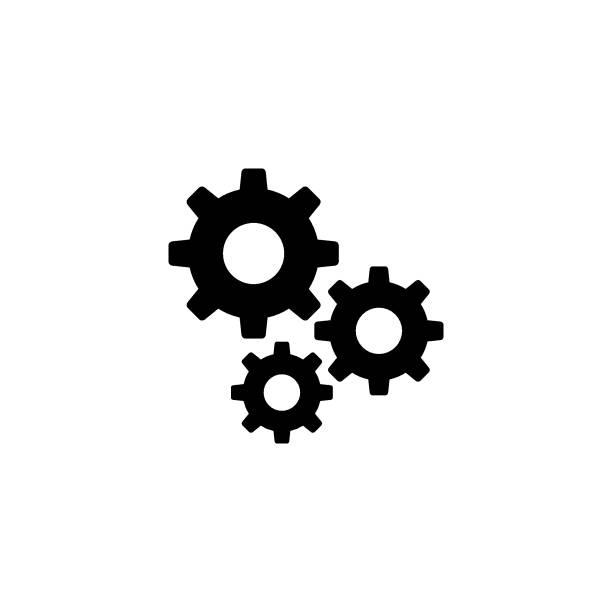 ilustrações, clipart, desenhos animados e ícones de ícone de vetor de engrenagens de configurações - engrenagem