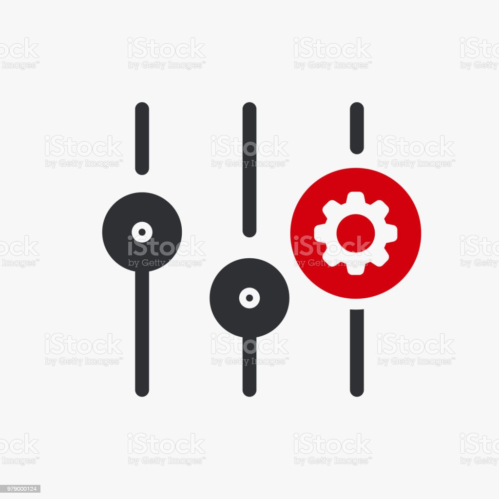 Settings icon, multimedia icon with settings sign. Settings icon and customize, setup, manage, process symbol vector art illustration