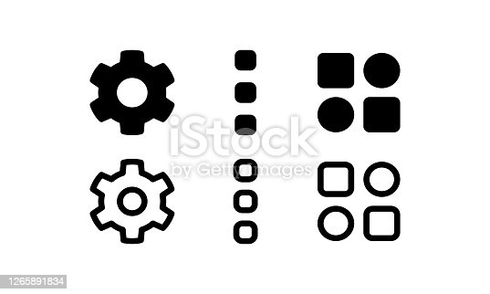 istock Settings icon, options, and widgets as user interface 1265891834