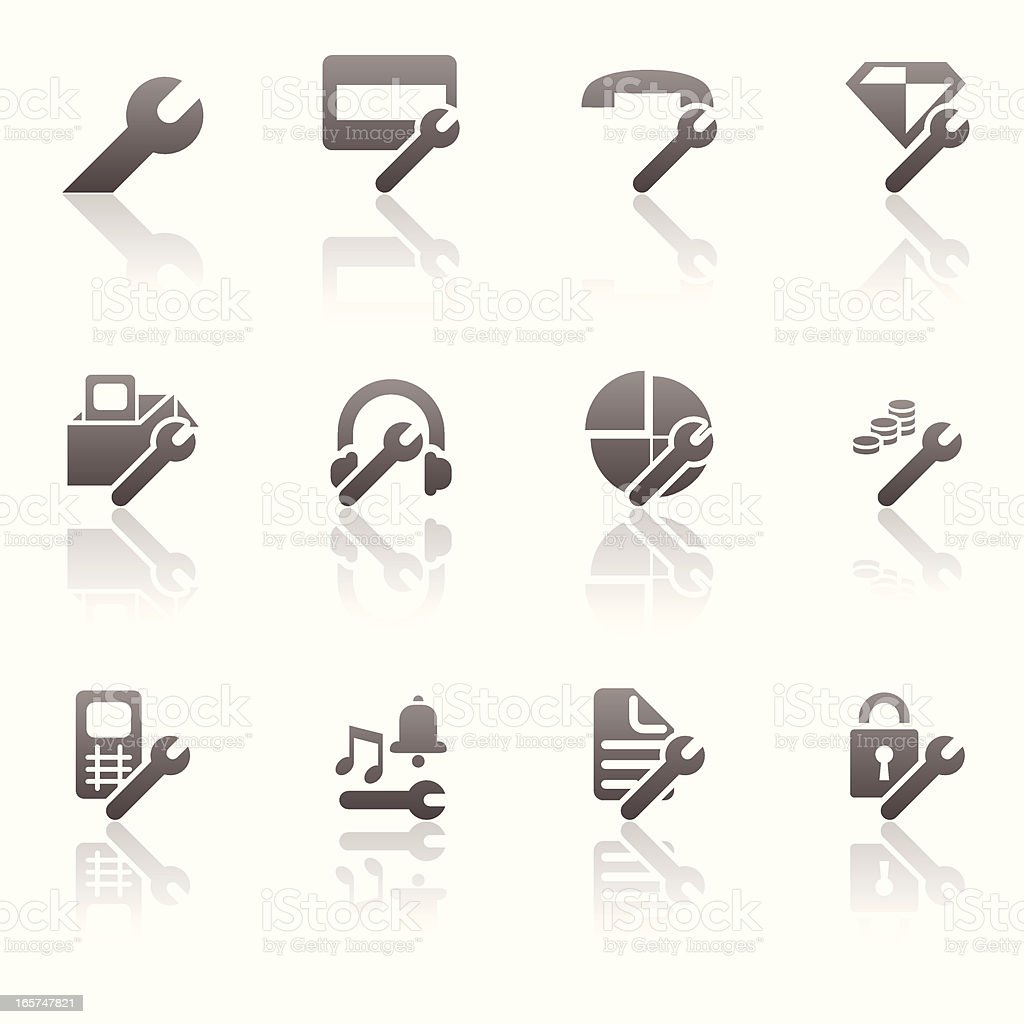 Settings Icon Set royalty-free stock vector art
