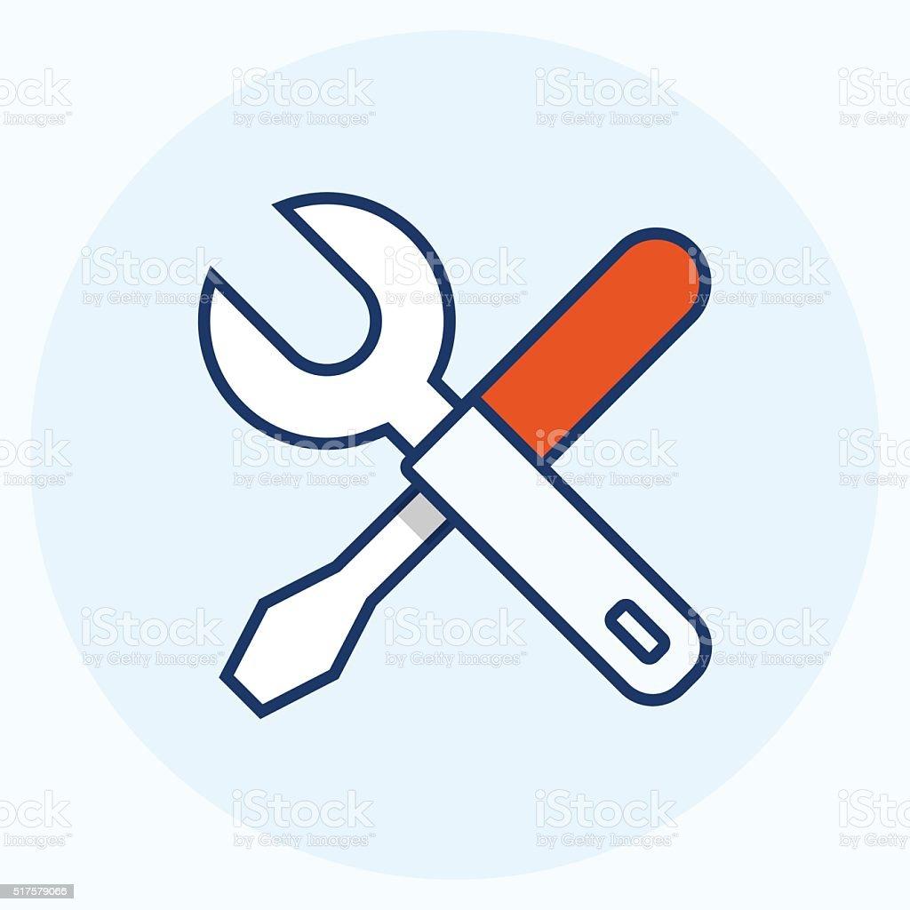 Settings icon vector art illustration