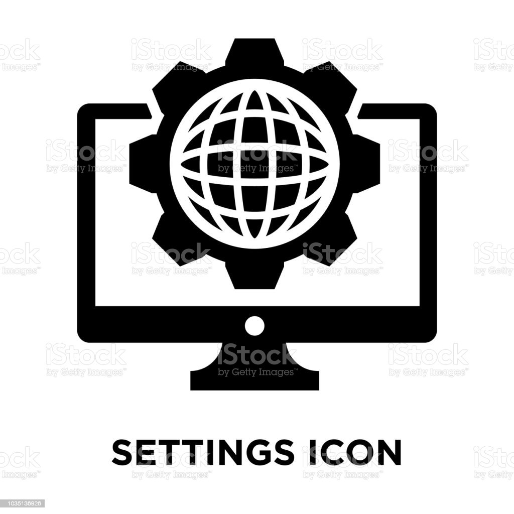 Settings Icon Vector Isolated On White Background Logo Concept Of