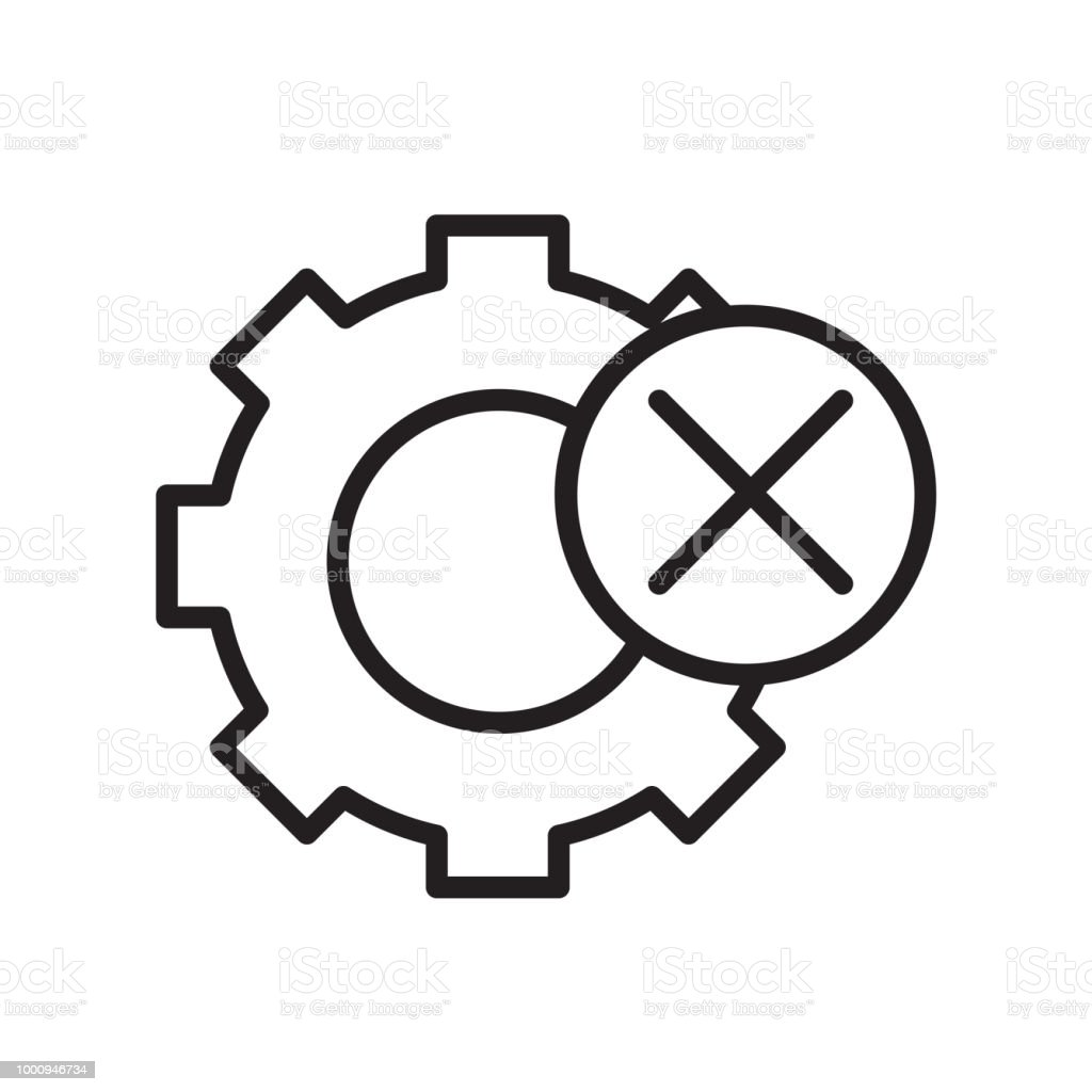 Settings Icon Vector Sign And Symbol Isolated On White