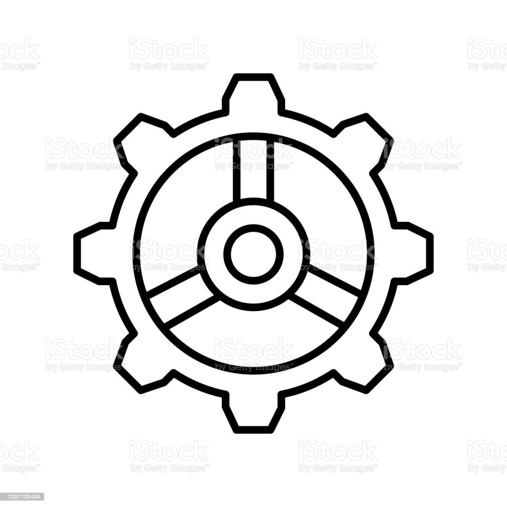 Settings Icon Vector Sign And Symbol Isolated On White Background