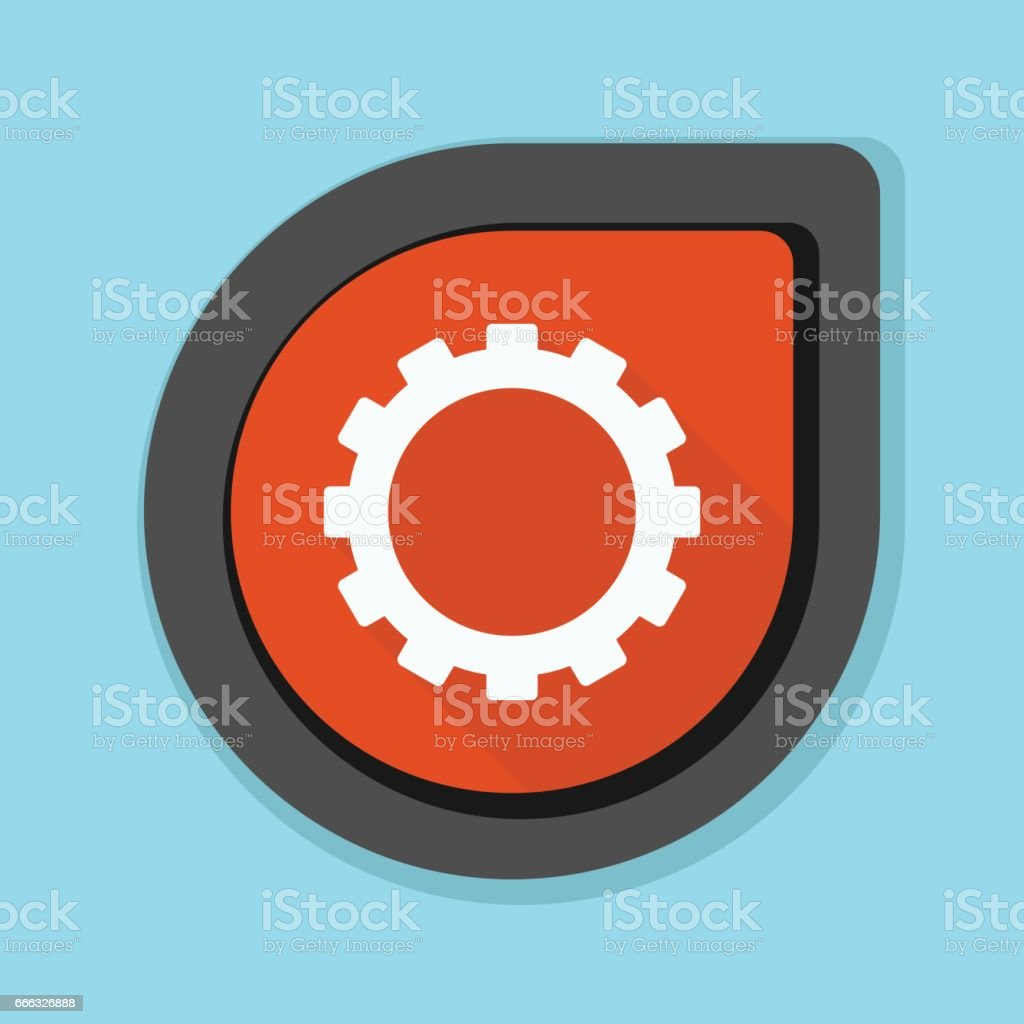 Settings Tool Button Stock Illustration - Download Image Now