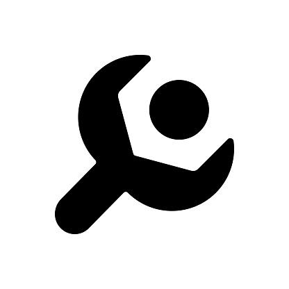 Setup black glyph icon