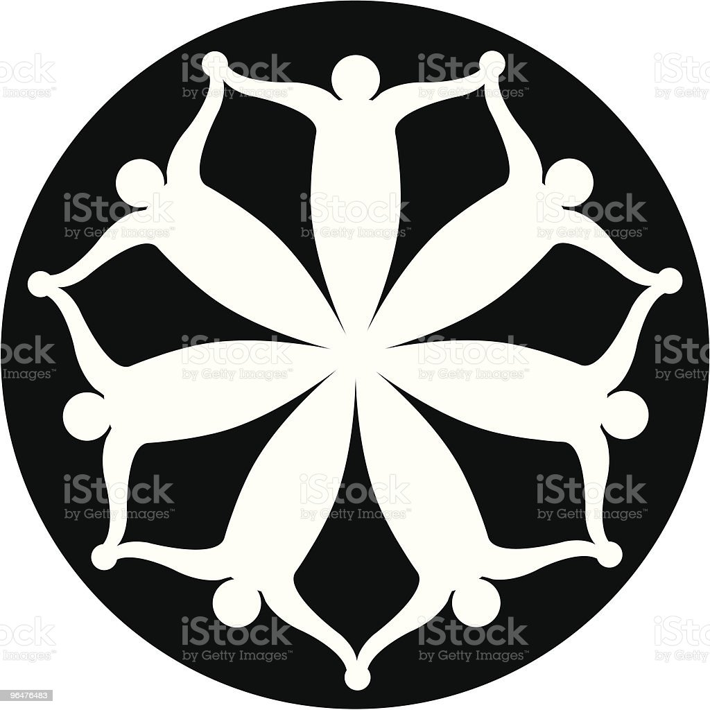 Seven Abstract Figures (people) circular icon royalty-free seven abstract figures circular icon stock vector art & more images of agreement