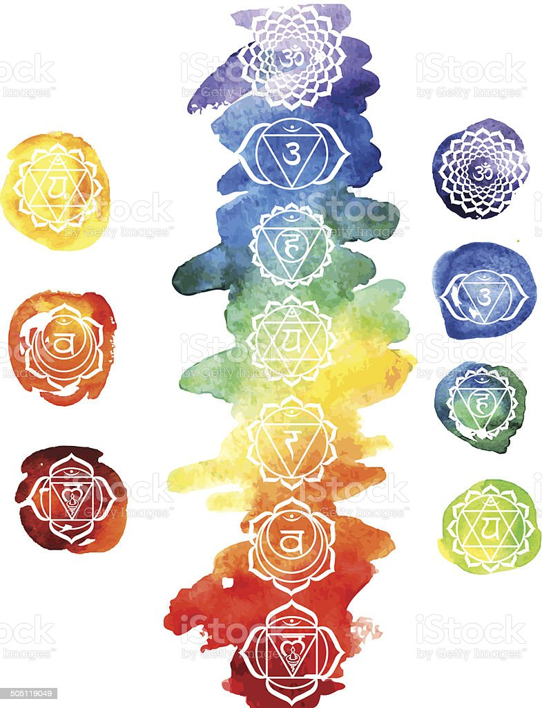 Seven Chakras Stock Illustration - Download Image Now - iStock
