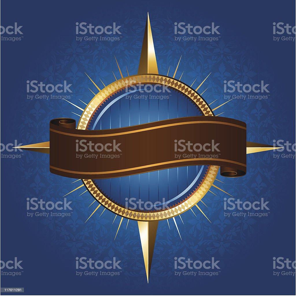 Seven Seas Compass royalty-free stock vector art