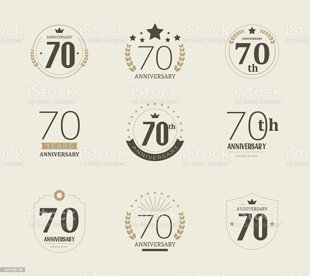 Download Seventy Years Anniversary Logo 70th Anniversary Vintage ...