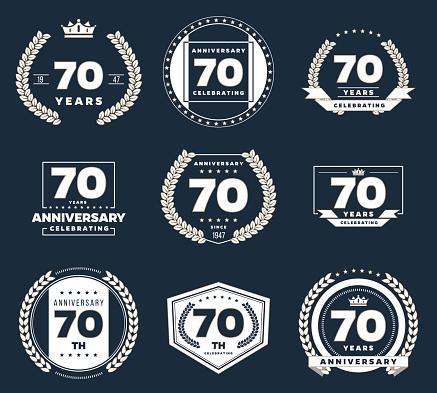 Download Seventy Years Anniversary Logotype 70th Anniversary ...